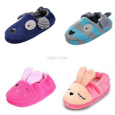 Toddler Baby Kids Girls Boys Cotton Slippers Cartoon Soft Sole Crib Shoes 1-8Y