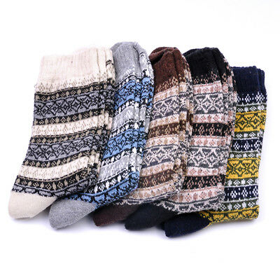 1 Pairs Wool Comfortable Men/Women Thick Warm Dress Casual Solid Socks Winter
