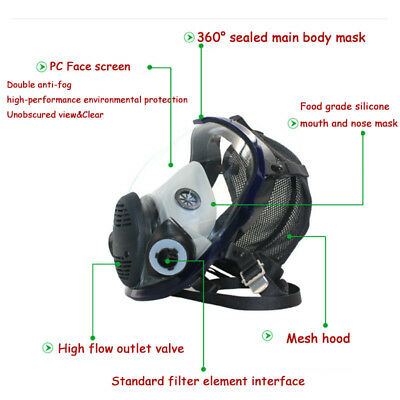 Facepiece Respirator Painting Spraying For 3M 6800 Full Face Gas Mask AU Stock