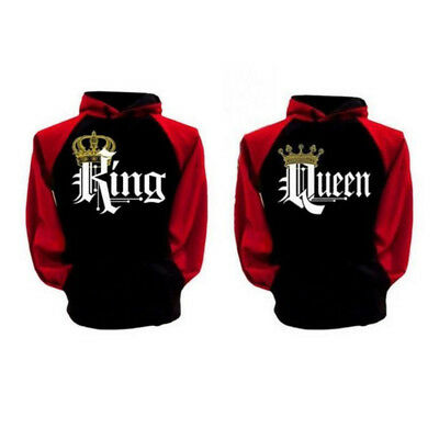 New Coat Sweater English Letter Lover Men and Women Queen/King