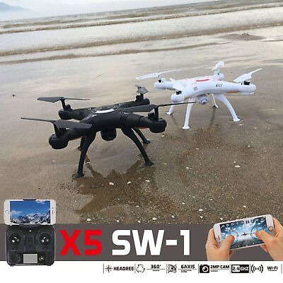X5SW-1 New White Wifi FPV Camera Drone 2.4Ghz RTF 4CH RC with 2MP Quadcopter
