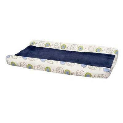 Kids Line 6726 Jungle Doodle  Navy Plush Nursery Changing Pad Cover Bedding BHFO