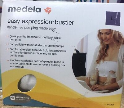 Medela Easy Expression Bustier - WHITE - Large - BRAND NEW