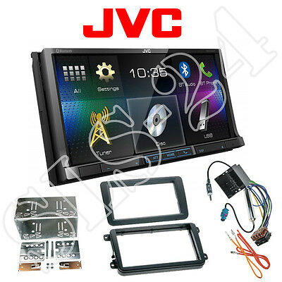 JVC Doppel-DIN DVD Bluetooth Radio VW Golf Jetta V VI Sharan II T5 Radioblende