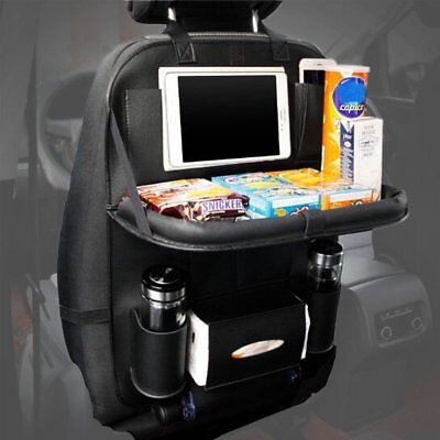 Car Seat Organiser Children Tablets Holder Wallets Travel Storage With Tray