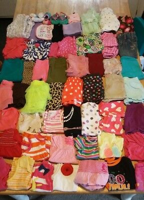 Huge 68 piece lot of baby girl clothes sizes 9month and 12month