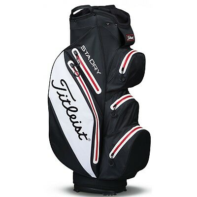 Titleist STADRY Cart Bag BLACK / WHITE / RED +NEW+ 2017 TB6CT7-016
