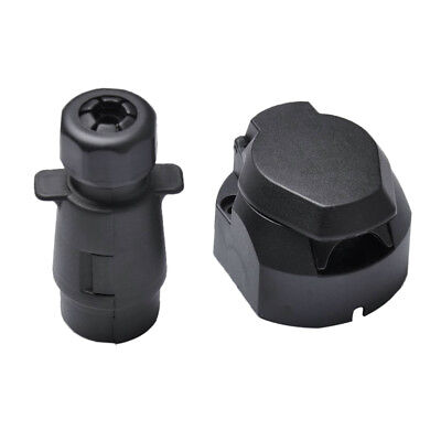 7 Way RV Trailer Signal Light Plug Socket Connector Electrical Connection