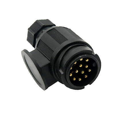13 Way RV Trailer Signal Light Plug Connector Electrical Connection Parts