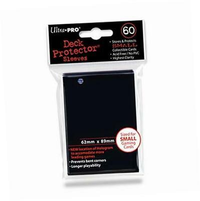 Trading Card Sleeves - 60 Ultra Pro Black Deck Protectors YuGiOh! Sized