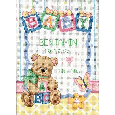 Dimensions Counted Cross Stitch Kit 73428 Baby Express Birth Record New 30x23cm