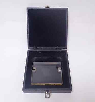 "DOALL 1700 PRECISION OPTICAL FLAT 3"" x 4"" .000001"" ACCURACY IN ORIGINAL BOX"