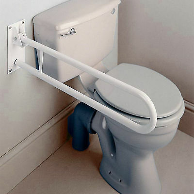 Alterna Bathroom Toilet Hinged Support Drop Down Grab Rail Handrail 740MM Length