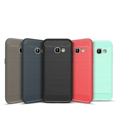 Samsung Galaxy A7 2017 Carbon Outdoor Case Curb Cover Hybrid Cover
