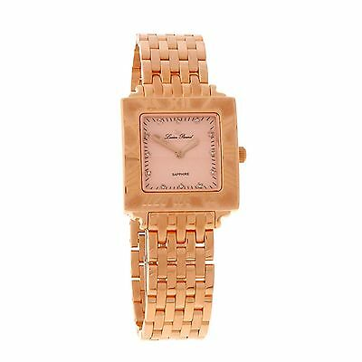 NEW Lucien Piccard LP-26927RO Womens Nova Rose Gold Square Watch sapphire crysta
