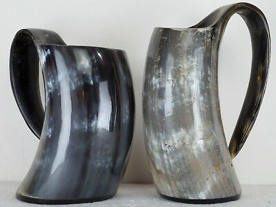 """Christmas Game of throne-Real-Vintage-Drinking-Horn-Mug-Tankard-for-beer- 6"""""""