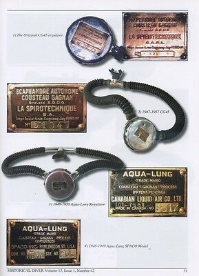 Gagnan Aqualung US Divers Cousteau La Spirotechnique Georges Commeinhes Vintage