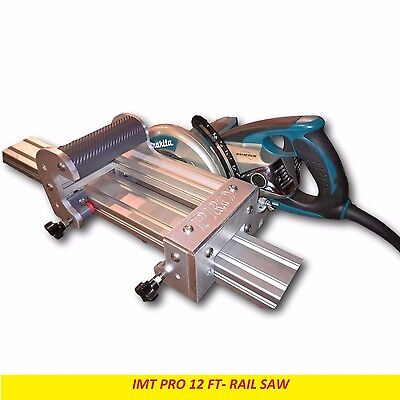 IMT Professional Wet Cutting Makita Motor Granite Rail, Track Saw -12 ft Rail