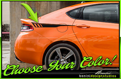 2013 2014 2015 2016 2017 2018 Dodge Dart Side Hockey Stripes Graphics Style 26