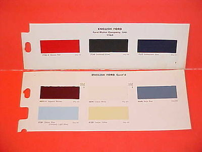 1965 English British Ford Anglia 1200 Cortina 1500 Gt Sedan Wagon Paint Chips 65