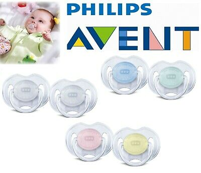 Baby Soother Dummy Nipple 0-6m / 6-18m Pacifier Philips Avent Translucent