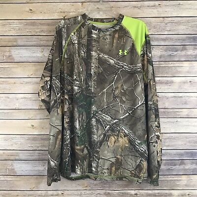 Under Armour Mens Loose Fit Camp Realtree Heatgear Long Sleeve Shirt Size XL