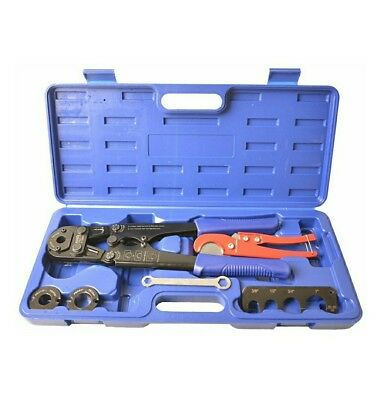 """IWISS® F1807 PEX Pipe Crimping Tool Kit for 3/8"""",1/2"""",3/4"""",1"""" Copper Ring"""