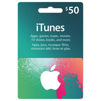 Apple iTunes Canada 2 x $25 Gift Cards $50 Total Value! [Digital Key]