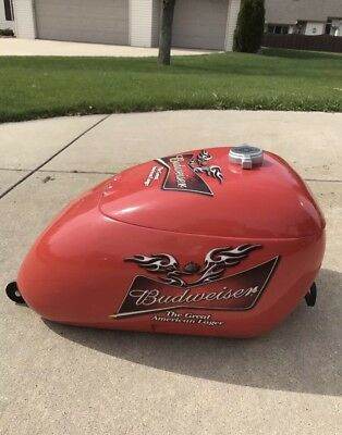 Rare Budweiser Harley Davidson Gas Can Rolling Cooler