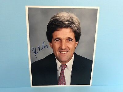 John Kerry Signed Autographed 8 x 10 photo with United States Senate Letter