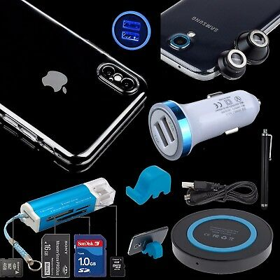 Hard Clear Wireless Pad Car Charger Case Camera Len For Apple iPhone X 10 8 Plus