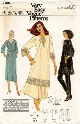 1970's VTG VOGUE Misses' Dress,Tunic,Skirt,Pants Pattern 7155 Size 10-12 UNCUT
