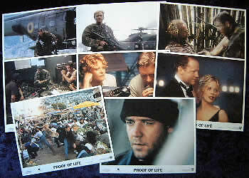 PROOF OF LIFE lobby cards RUSSELL CROWE, MEG RYAN