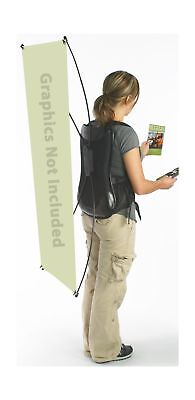 Displays2go Wearable Display Holds A 19 x 48 Inches Banner (HPOPBPRA) NO TAX