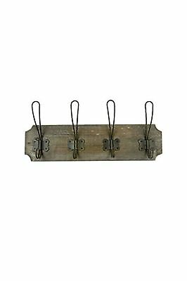 Vagabond Vintage Wooden French Wire Coat Rack NO TAX