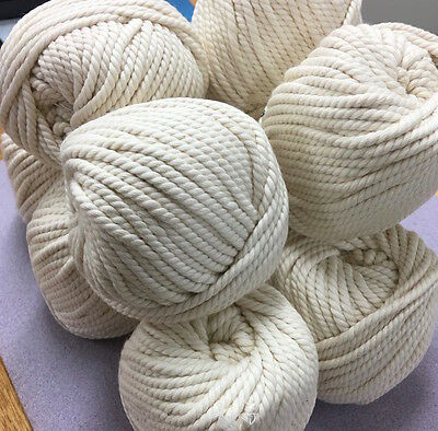 OFF WHITE Macrame 100% Cotton ROPE - 3-4mm 3 ply twisted wall art/macrame/looms