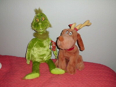 Grinch and Max Dr. Seuss How The Grinch Stole Christmas Kohls Cares Set