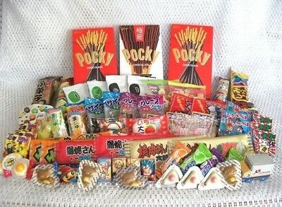 JAPANESE CANDY SET Pocky Gummy Ramen Chocolate Sweets Gum Snack 77pcs AIR MAIL