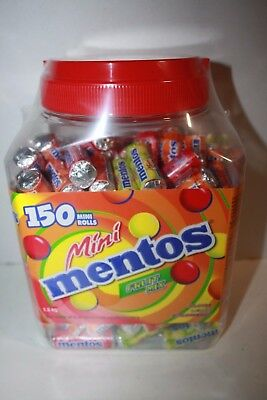 Mini MENTOS Fruit Mix 150 Mini Rolls 1.5kg Box