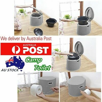 Plastic 5 Litre Camp Toilet for Camping RV Caravan Parts Portable + Paper Hook