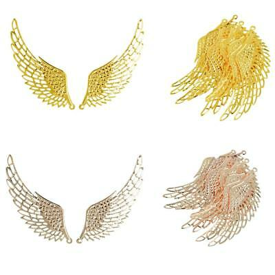 12Pcs Jewelry Charm Necklace Pendant DIY Large Alloy Angel Wing Findings