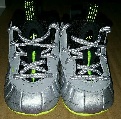 936962b4710f3 Infants Baby Nike Lil  Posite Pro One crib shoes size 2C 644790-001  foamposite