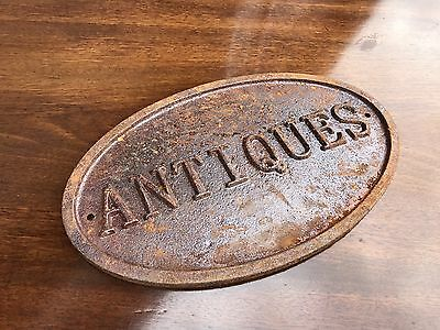 A Cast Iron Antique Shop Sign. Open To Offers?