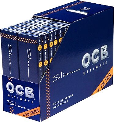 Tips OCB Ultimate Slim King Size Papers Filtertips 10 x 32 Blättchen  AKTION