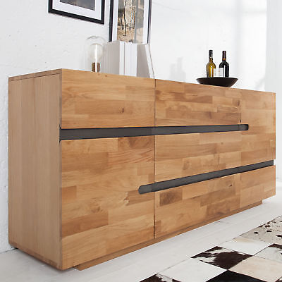 sideboard massivholz suar baumstamm naturkante 200x95x46 anrichte buffet schrank eur. Black Bedroom Furniture Sets. Home Design Ideas