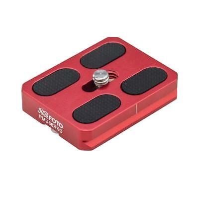 MeFOTO Camera Quick Release Plate for RoadTrip and GlobeTrotter Air Tripods, Red