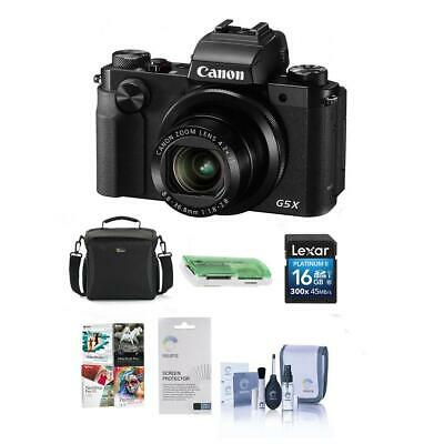 Canon PowerShot G5 X Digital Camera with Free Pc Accessories Kit, Black