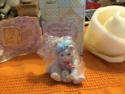 Enesco Calico KittensThinking Of You NIB & COA 624713