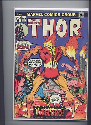 Thor #225 (1974) Marvel, Firelord 1st Appearance, Nice Copy Please See the Scans