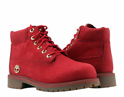 Timberland 6-Inch Premium Waterproof Red Limited Youth Little Kids Boots A1JN3